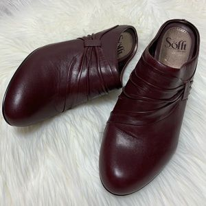 Sofft Oxblood Leather Mules 9M